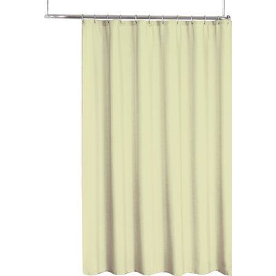 Symple Stuff 2 In 1 Single Shower Curtain Color Ivory Vinyl