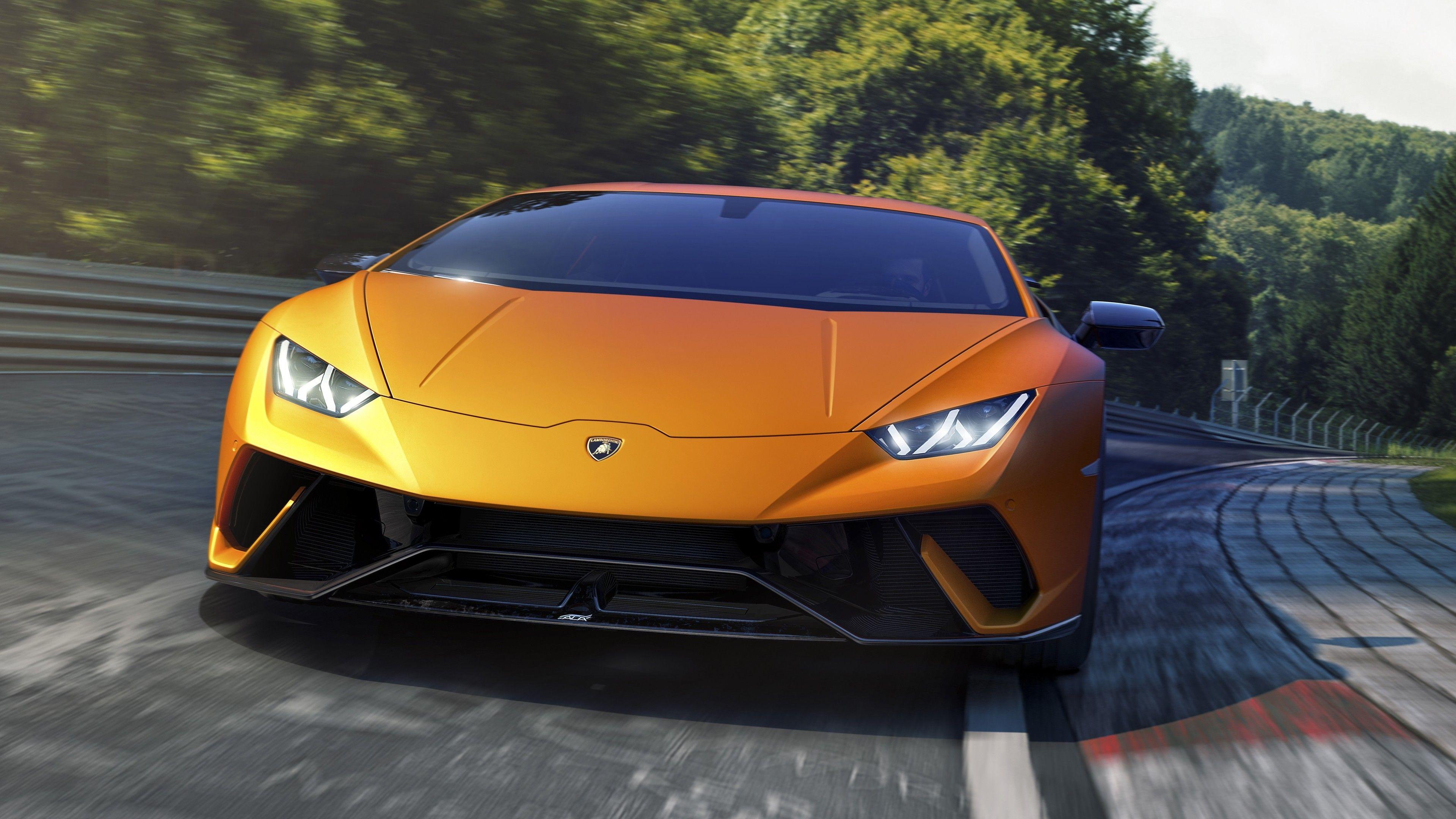 Wallpaper 4k Lamborghini Huracan Performante Front 2018 Cars