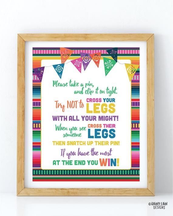 Fiesta Baby Shower Clothespin Game, Dont Cross Your Legs Game, Clothespin Game Sign, Fiesta Baby Shower Sign, Mexican Fiesta, Papel Picado