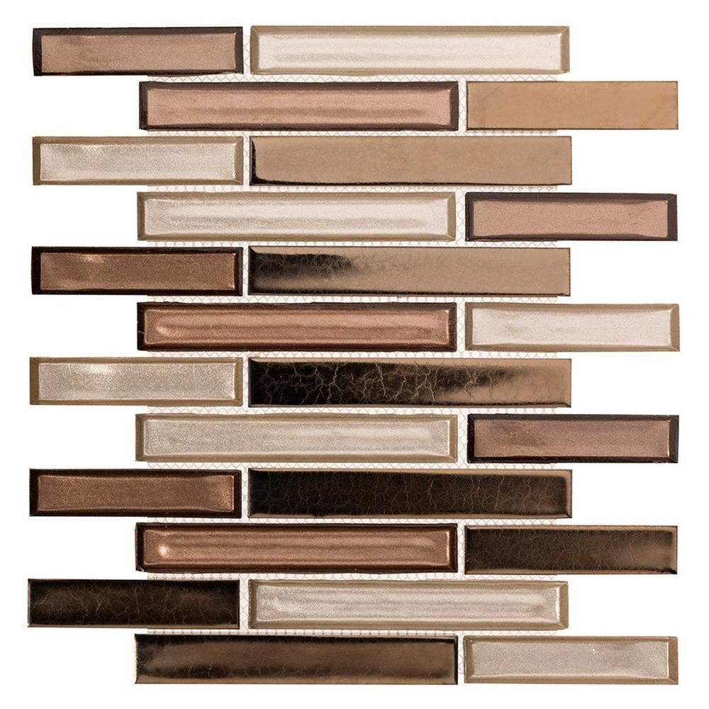 - Liquid Bronze Glass Mosaic Mosaic Glass, Bronze Tile Backsplash