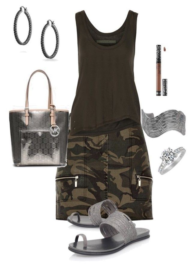 """""""Untitled #603"""" by yvettestarr on Polyvore featuring River Island, Enza Costa, Kat Von D, Urbiana and Bling Jewelry"""