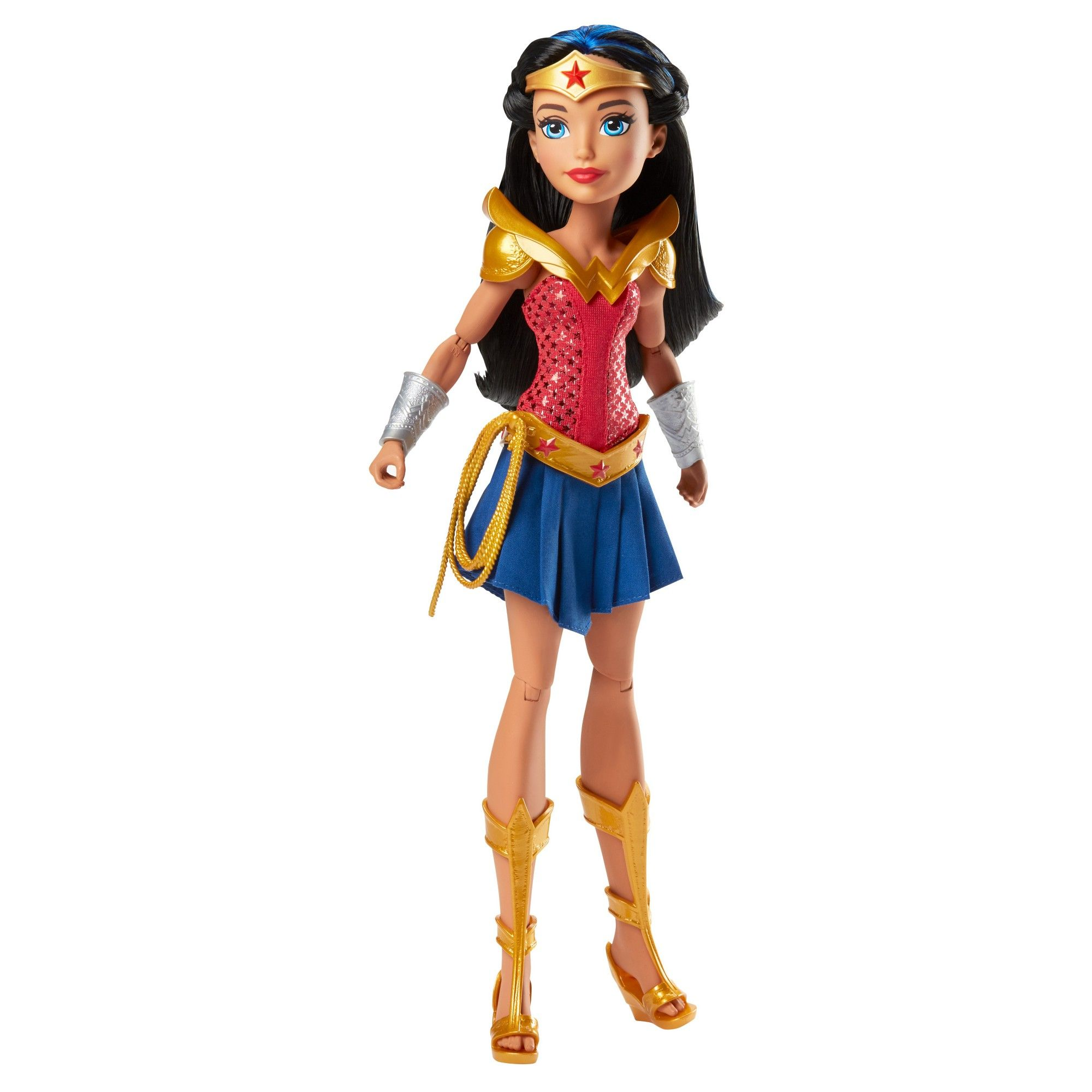 "DC Superhero Girls Wonder Woman Diana Prince 12/"" Action Figure Doll Mattel 2015"