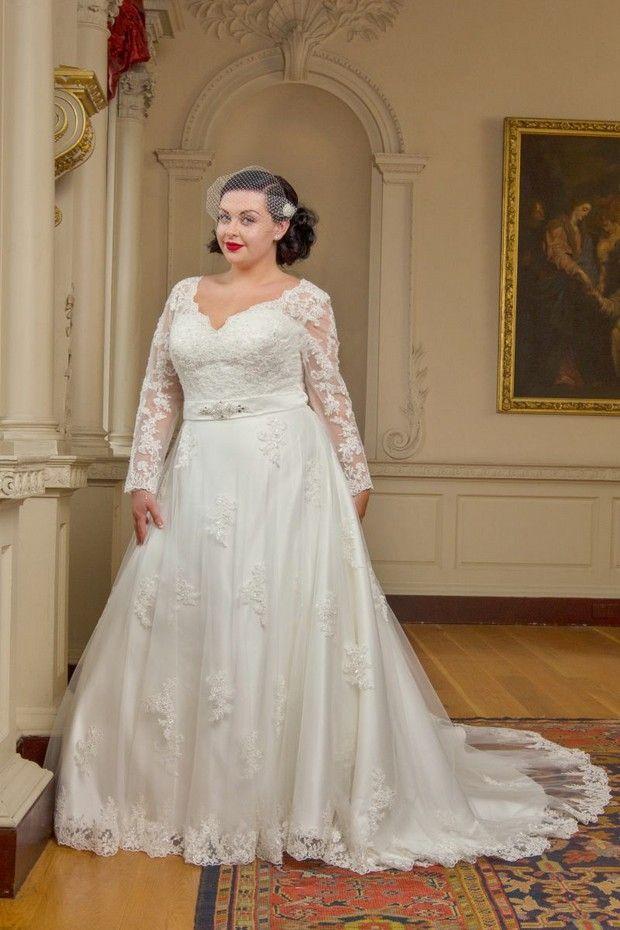 20 Amazing Plus Size Wedding Dresses Plus Size Bridal Pinterest