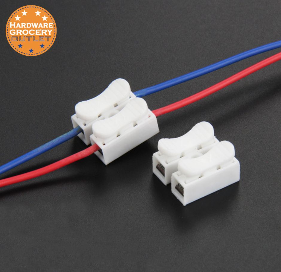 Quick Connector Cable Clamp Terminal Block Spring Wire Led Bulb Wiring Diagram Strip Light For Lamps Connecting