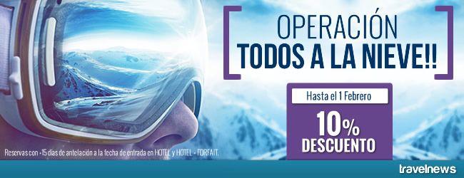 """Ofertas en www.viajesviaverde.es: Activación campaña """"Operación: Todos a la nieve!"""""""