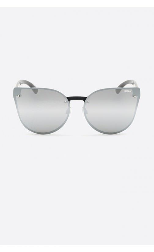 5d8fc85b18 Quay Australia - Higher Love Black And Silver Designer Sunglasses