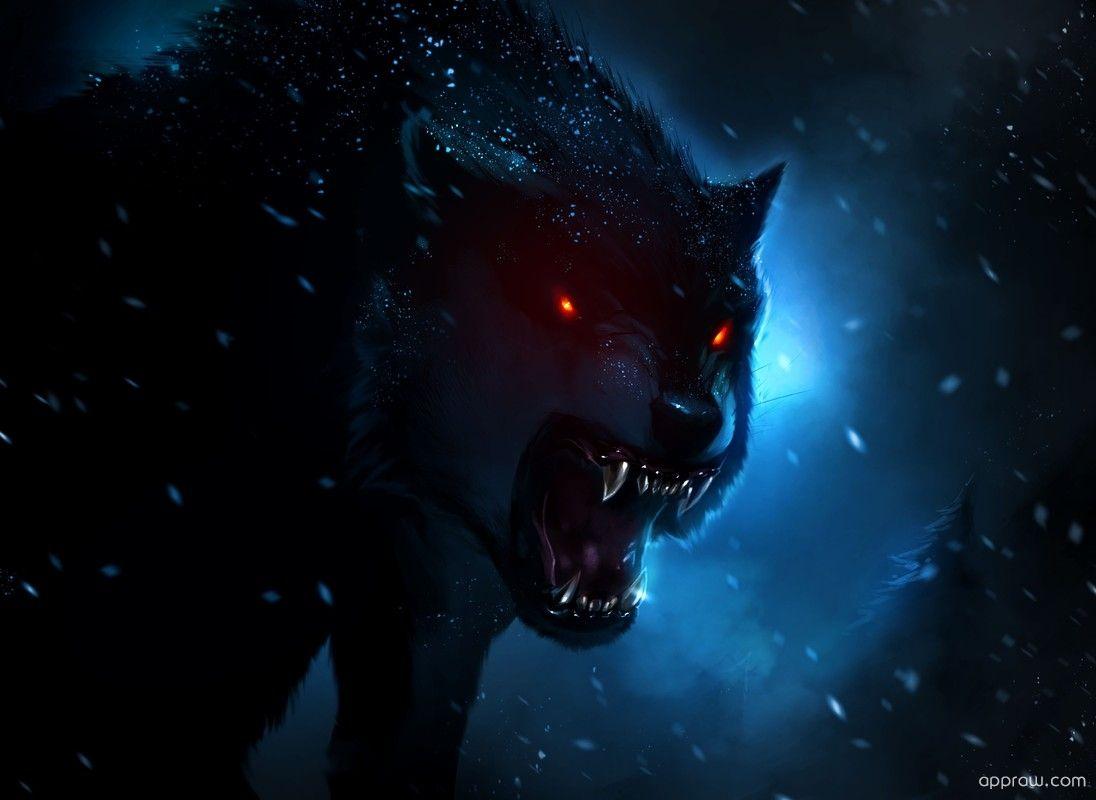 Dark Wolf Wallpaper Download Wolf Hd Wallpaper Appraw Wolf Wallpaper Fantasy Wolf Demon Wolf