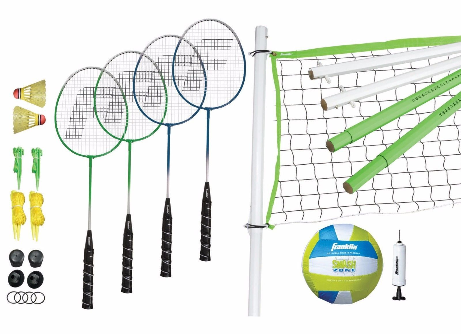 Volleyball And Badminton Set For Kids Playing Park Beach Backyard Toy Sport With Images Volleyball Set Badminton Set Volleyball