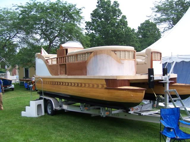 Viewing a thread - Pontoon boat built completly out of wood ...