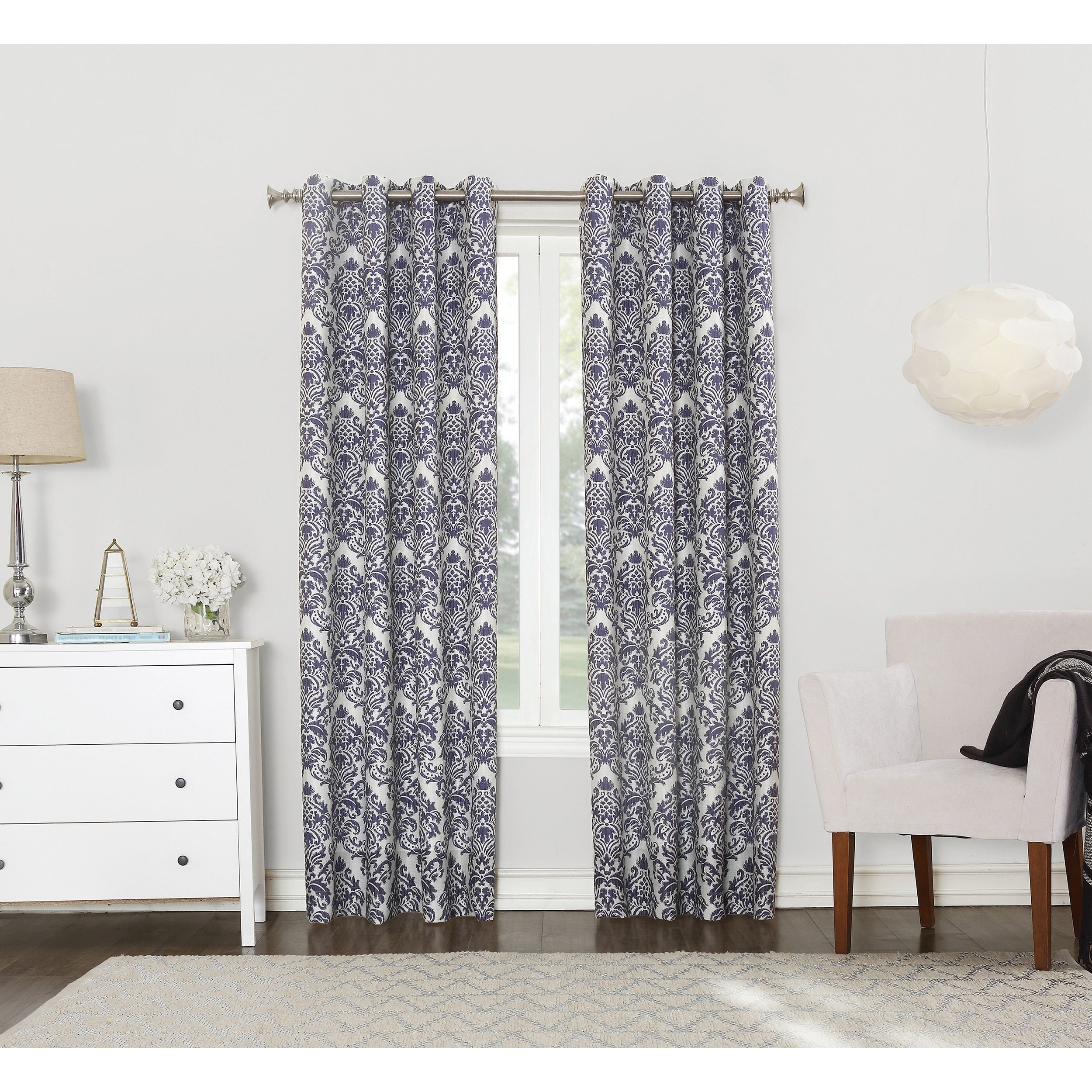 Sun Zero Claudine Blackout Lined Grommet Window Curtain