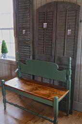 Photo of #Bench #Repurposed #Shutters Repurposed Bench, Shutters ,  #bench #Repurposed – …