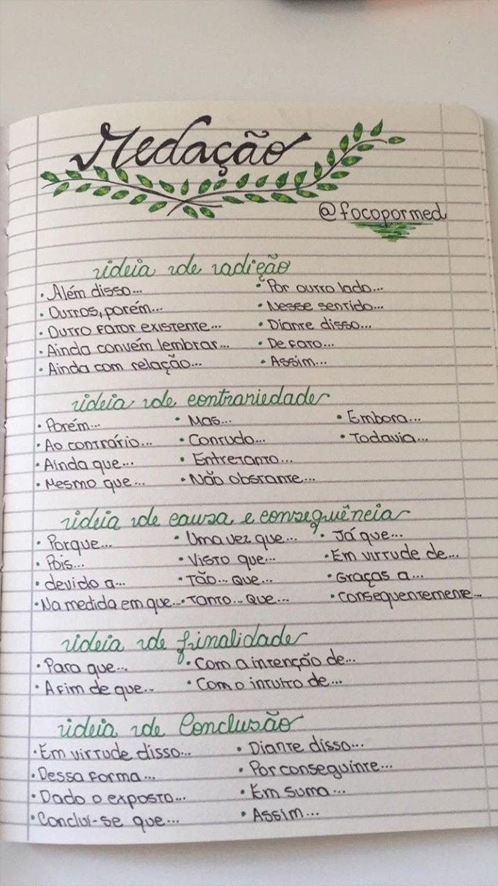 Imagem De Planos De Estudo Enem Por Julia Camille Em Caligrafia E