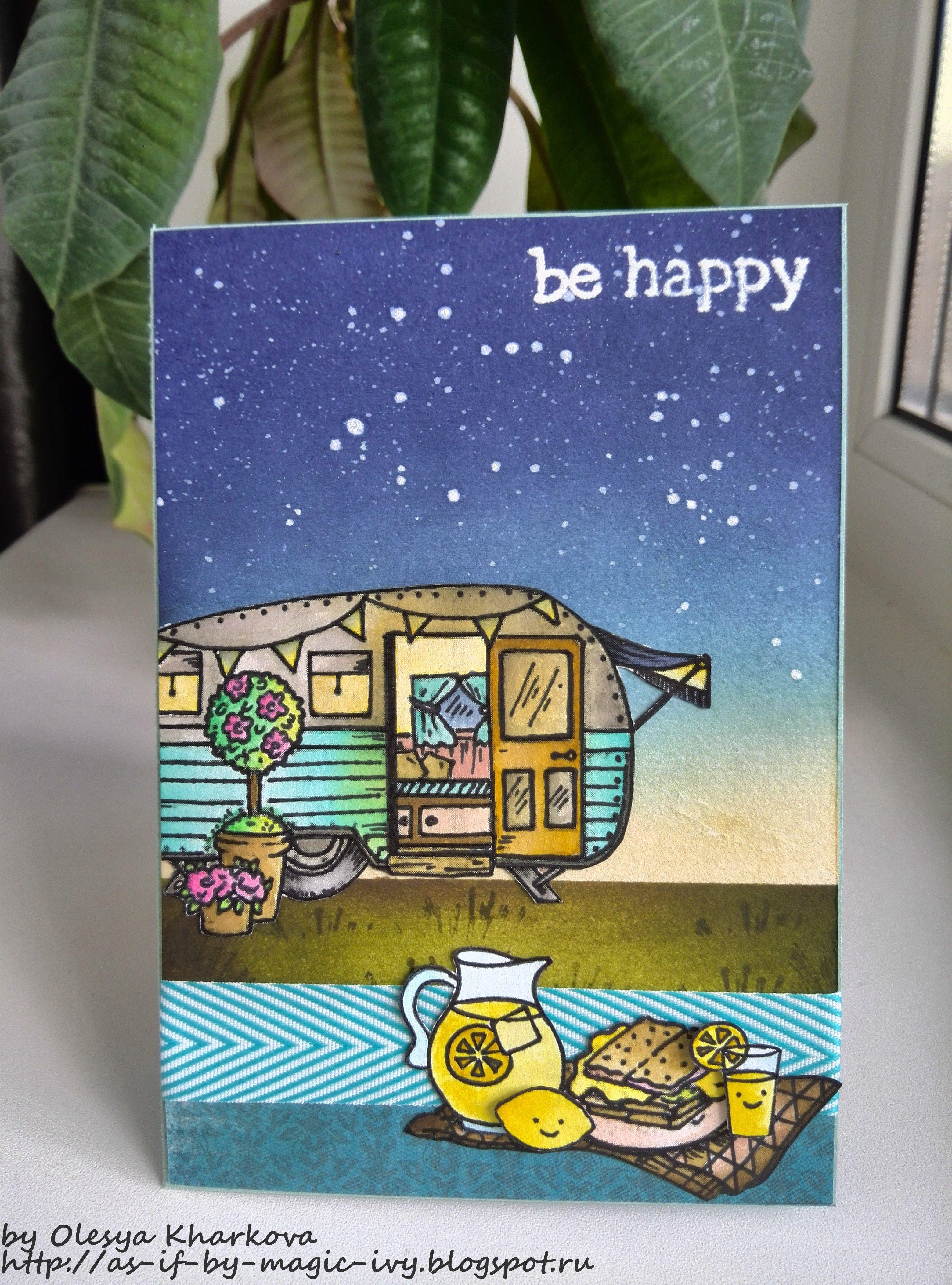 Be happy или Пикничок на траве is part of lawn Background Stamp Sets - Всем добрый вечер! Я сегодня почти обезумела от счастья , поводов было несколько получила три посылочки и сделала открытку, которую я безумно люблю  За вдохновение спасибо Эллисон Коуп ) Как только я увидела задание от Мемуариса про день открытых дверей, а подробнее работу Дарьи Мягких с трейлером, вспомнила, что у меня тоже гдето на компе припаркован маленький трейлер  Не так давно Творческая мастерскаямагазинчик Мемуарис переехала на новый адрес и устроила грандиозный праздник для всех, кто просто жить не может без скрапа, со множеством конкурсов и сюрпризов, мастерклассов и подарков  Эхх   побывать бы хоть раз на таких мероприятиях! Кроме того, мне так понравилось задание № 64 от блога Paint your world  Лимонады, сиропы и прочие летние напитки , что я незамедлительно вспомнила про старенький набор от Lawn Fawn Make lemonade, а трейлер от Flourish  Все фоновые манипуляции совершались с помощью дистрессов (маркеры и чернила), без них никуда теперь  Спасибо, что заглянули!