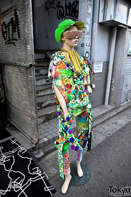 #Colorful Dog Harajuku Mannequin Like,Repin,Share, Thanks!