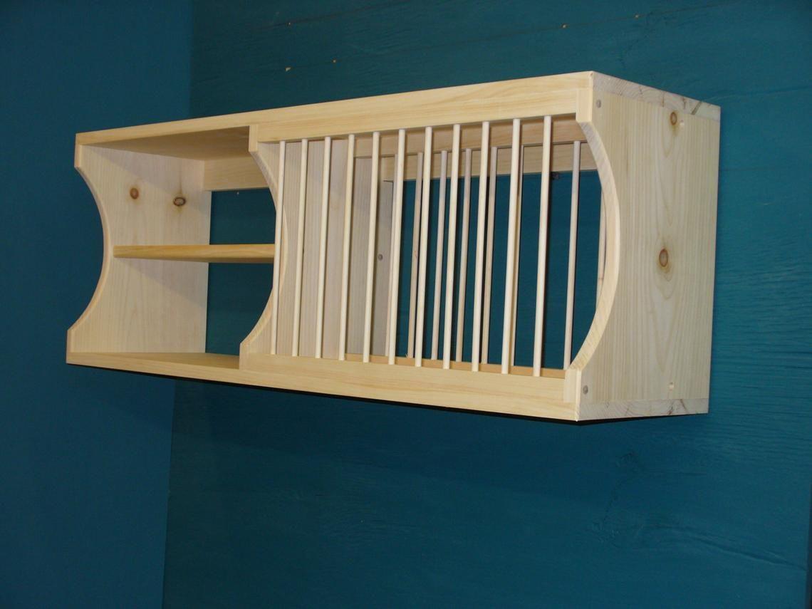 New Modern cabinet wood plate dish rack mugs glasses spice shelf kitchen mug tea cup shelf organizer #dishracks
