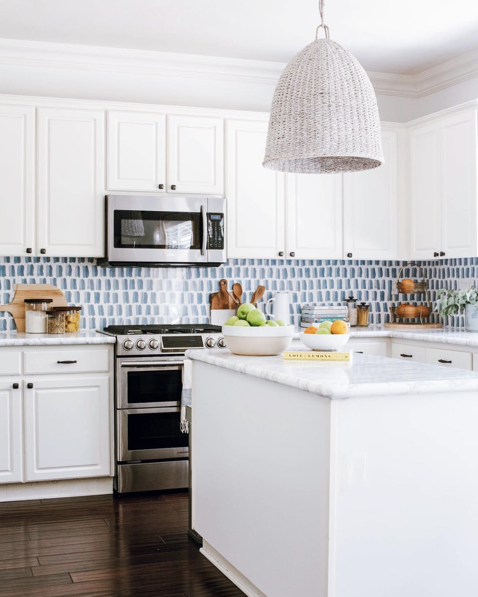 Double Dash Wallpaper In Rain In 2020 Kitchen Wallpaper Diy Kitchen Backsplash Kitchen Renovation Cost