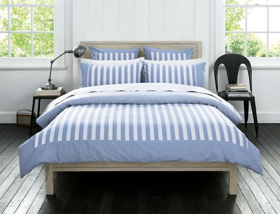 Sheridan Eaton Chambray Duvet Cover Set Pillowcases And Cushion