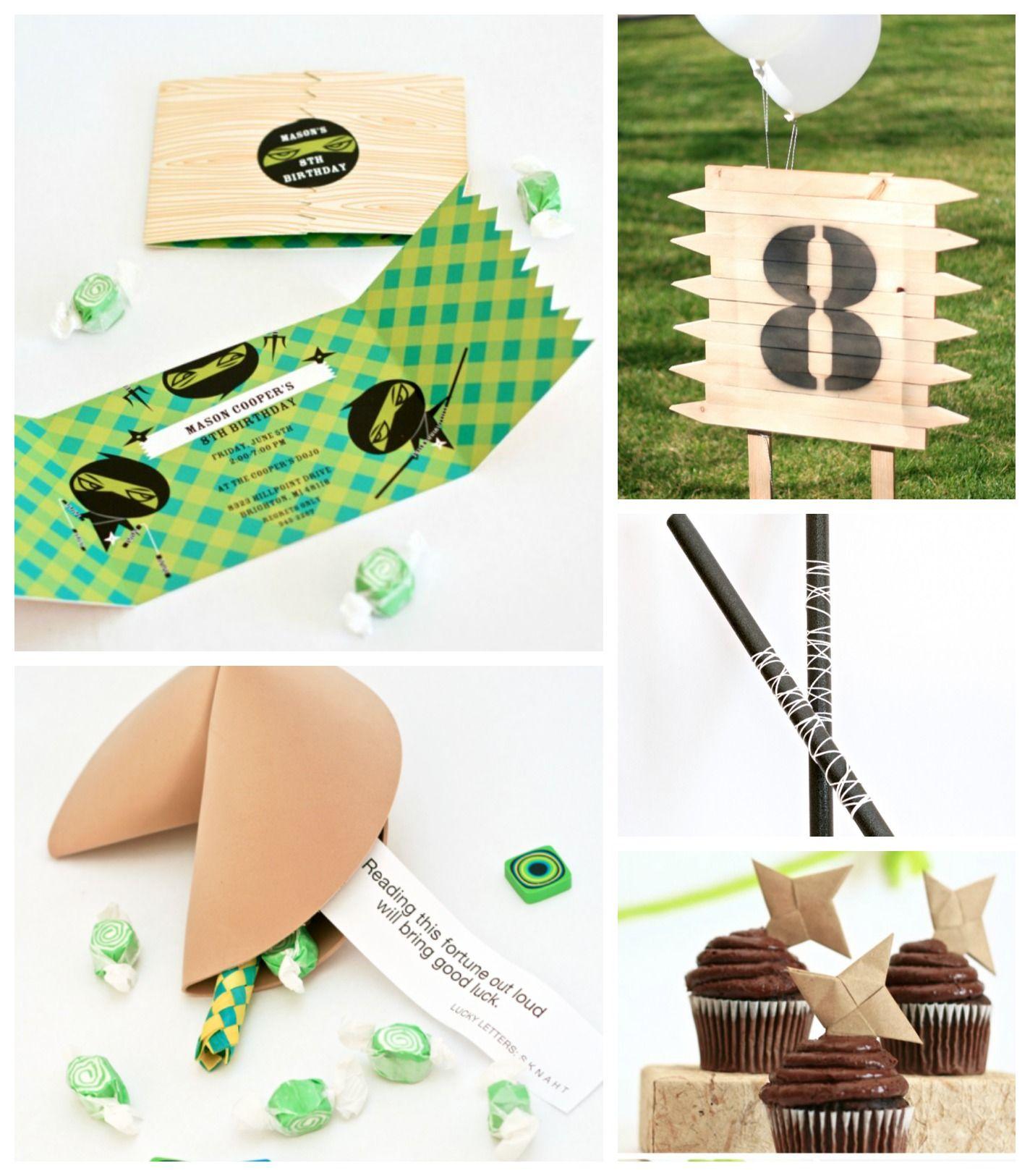 Ninja Birthday Party Ideas from @Brittany Egbert | Kids Birthday ...