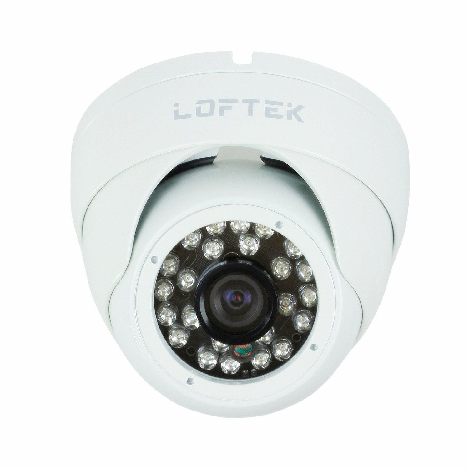 LOFTEK® Conch-shaped dome 24 Infrared LEDs Day/Night Vision Security CCTV Camera Color CCD Video camera Sony 420TVL 3.6mm Wide View Angle Lens. built with high-quality metal housing . White.  http://www.amazon.com/LOFTEK%C2%AE-Conch-shaped-Infrared-Security-high-quality/dp/B007RIXBKE/ref=aag_m_pw_dp?ie=UTF8=A23TNQB4GVF91M