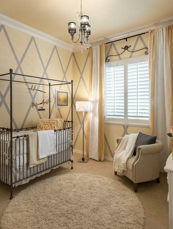 grey and buttercream nursery unisex baby room baby room on Unisex Bedroom Ideas id=72294
