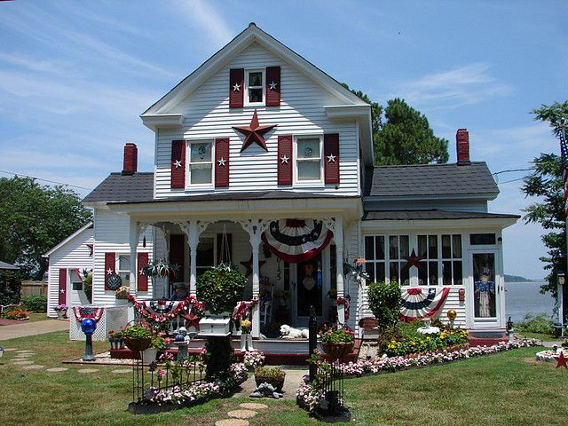 Fourth Of July Front Door Decor | This House Canu0027t Help To Shine On