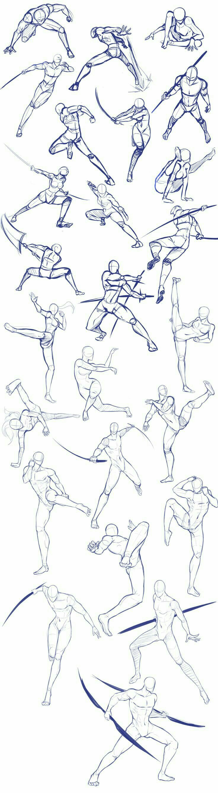 body positions weapons fighting swords how to draw manga anime
