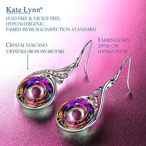 772c1d3d4 #Clothing,ShoesandJewelry #DropandDangle #Earrings #Jewelry #Women Kate Lynn  Woman's ❤️Nirvana of Phoenix❤ Swarovski Crystals Earrings with Gift Box, ...