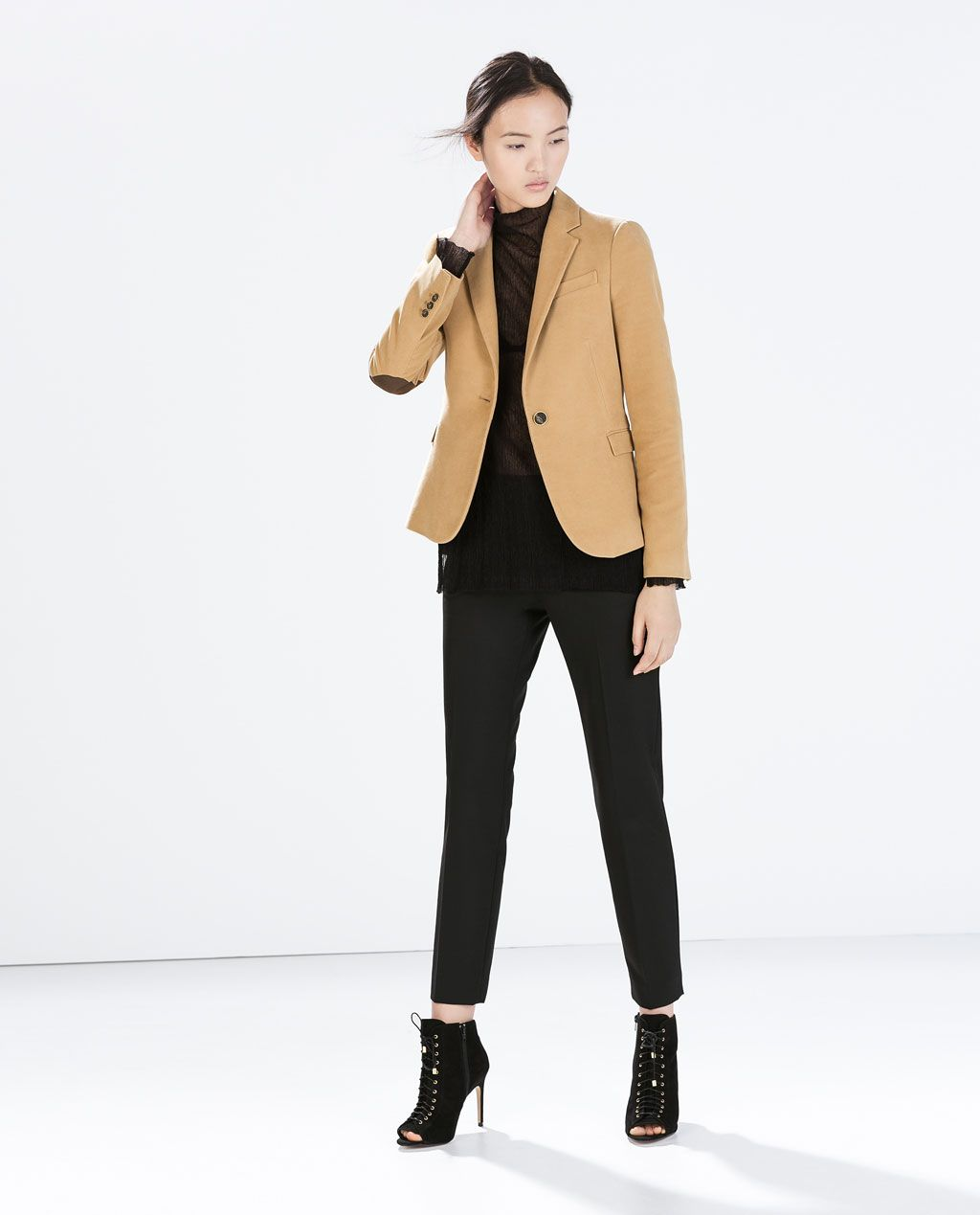 0cbf5ba3e8 BLAZER WITH ELBOW PATCHES from Zara | A T T I R E in 2019 | Camel ...