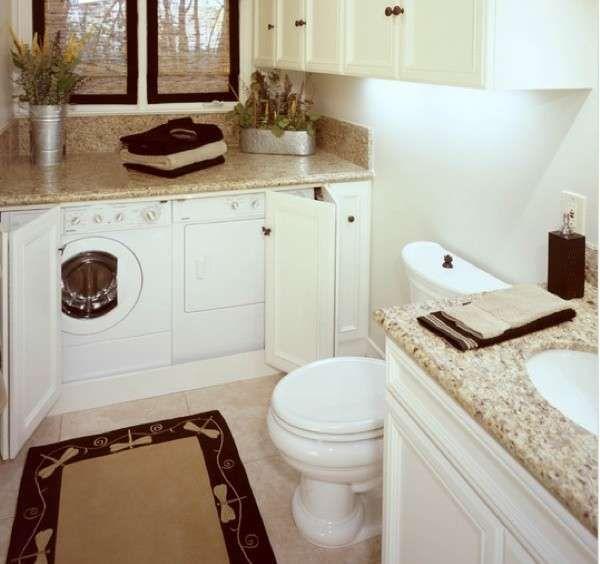 Bagno piccolo con lavatrice - Arredi bagno per lavatrice ...