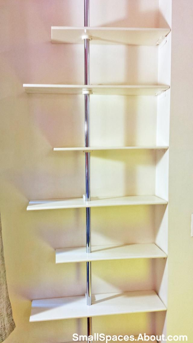 Closet Rod Floor To Ceiling Shelving Unit Hack With Outlets For Lights:  Supply List For Custom Fit Floor To Ceiling Shelving Unit