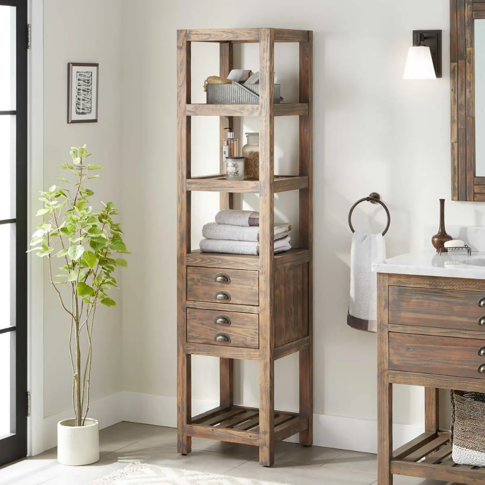 Signature Hardware 441125 Build Com Linen Storage Cabinet Bathroom Linen Tower Bathroom Storage Cabinet
