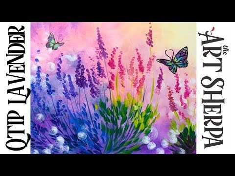 Easy Spring Flowers Acrylic Painting On Canvas For