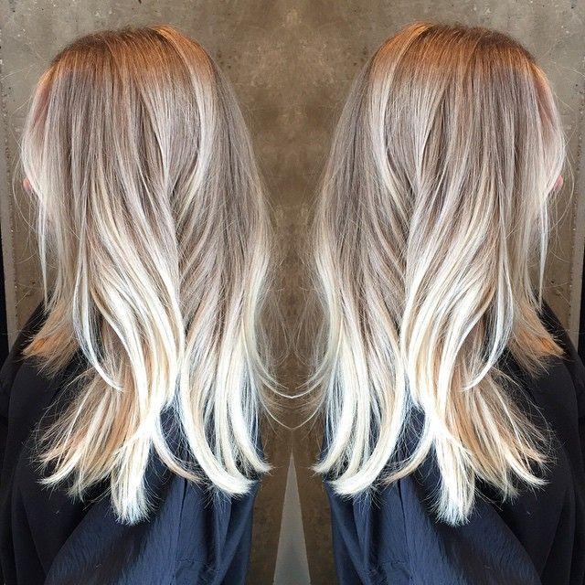 Pretty Handpainted Blonde Balyaj Sac Renkleri Ve Golgeli Sac
