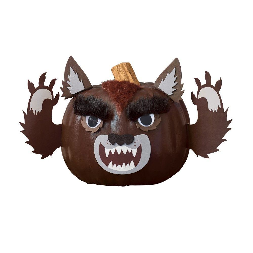 HYDE And EEK Paper Werewolf Pumpkin Craft Kit NEW