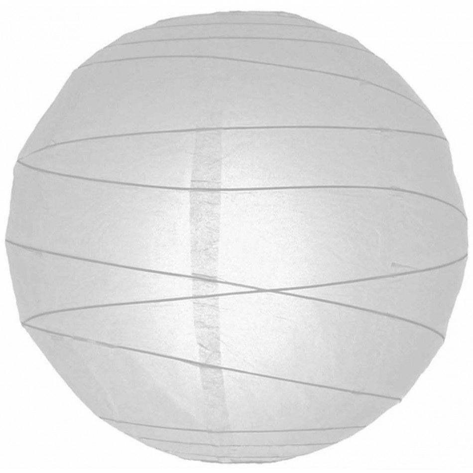 Dove Gray Paper Lanterns