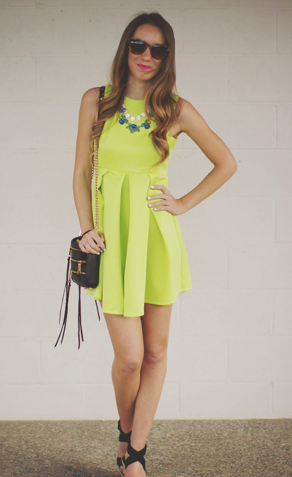 Neon glam neon green dresses neon and neon green