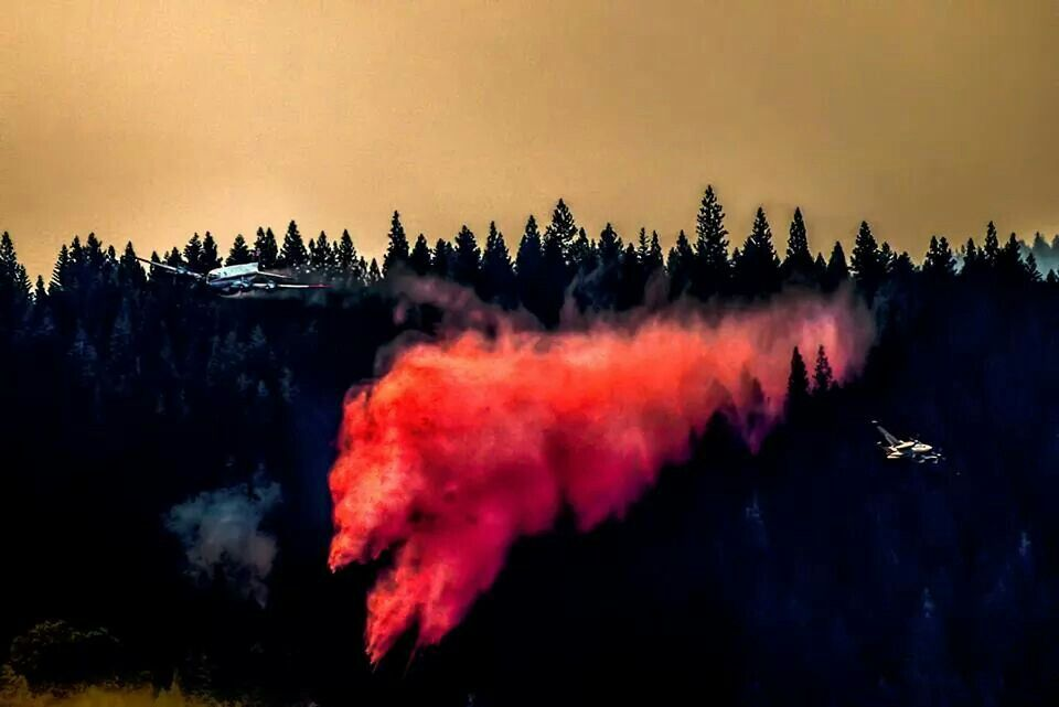 #KingFire/Pollock Pines -El Dorado Co, w/two plplayers hv especially crossing paths...9.13.14 ~