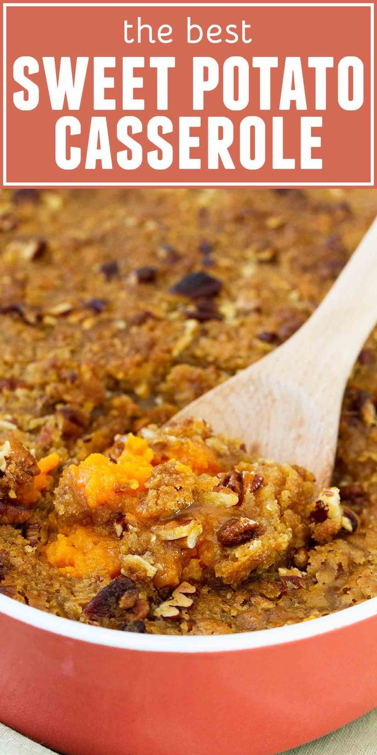 The BEST Sweet Potato Casserole Recipe - Taste and Tell
