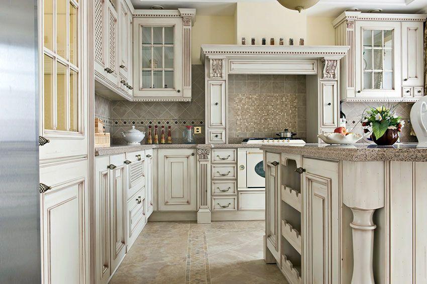 30 Antique White Kitchen Cabinets Design Photos Antique White