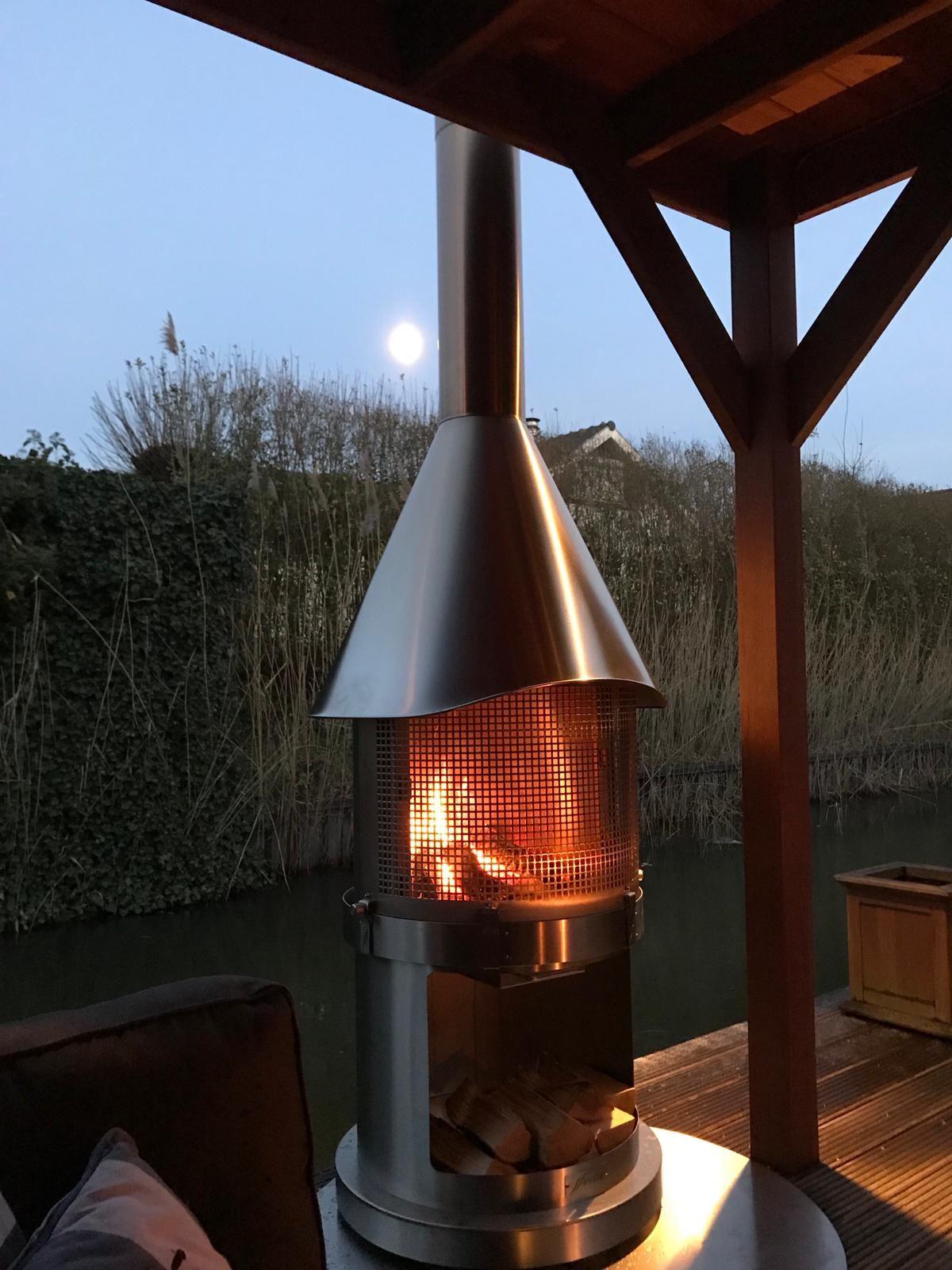 Gartenkamin Grillkamin Feuerstelle Edelstahl Dream Backyard Outdoor Living Backyard