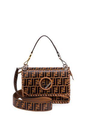 Fendi - Kan I Whipstitched Logo Shoulder Bag  ac0c83bb2d23a