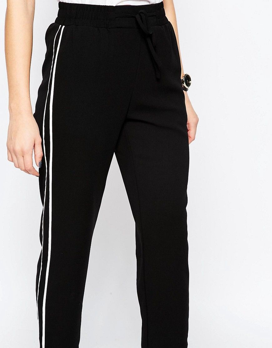 59a9197c61b1 Image 3 of ASOS Peg Trousers with Contrast Piping