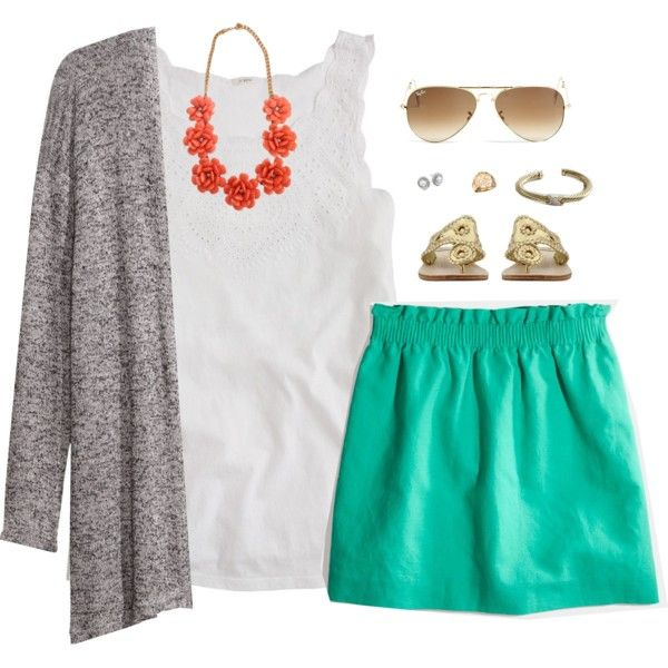 A fashion look from March 2014 featuring J.Crew tops, H&M cardigans and J.Crew mini skirts. Browse and shop related looks.