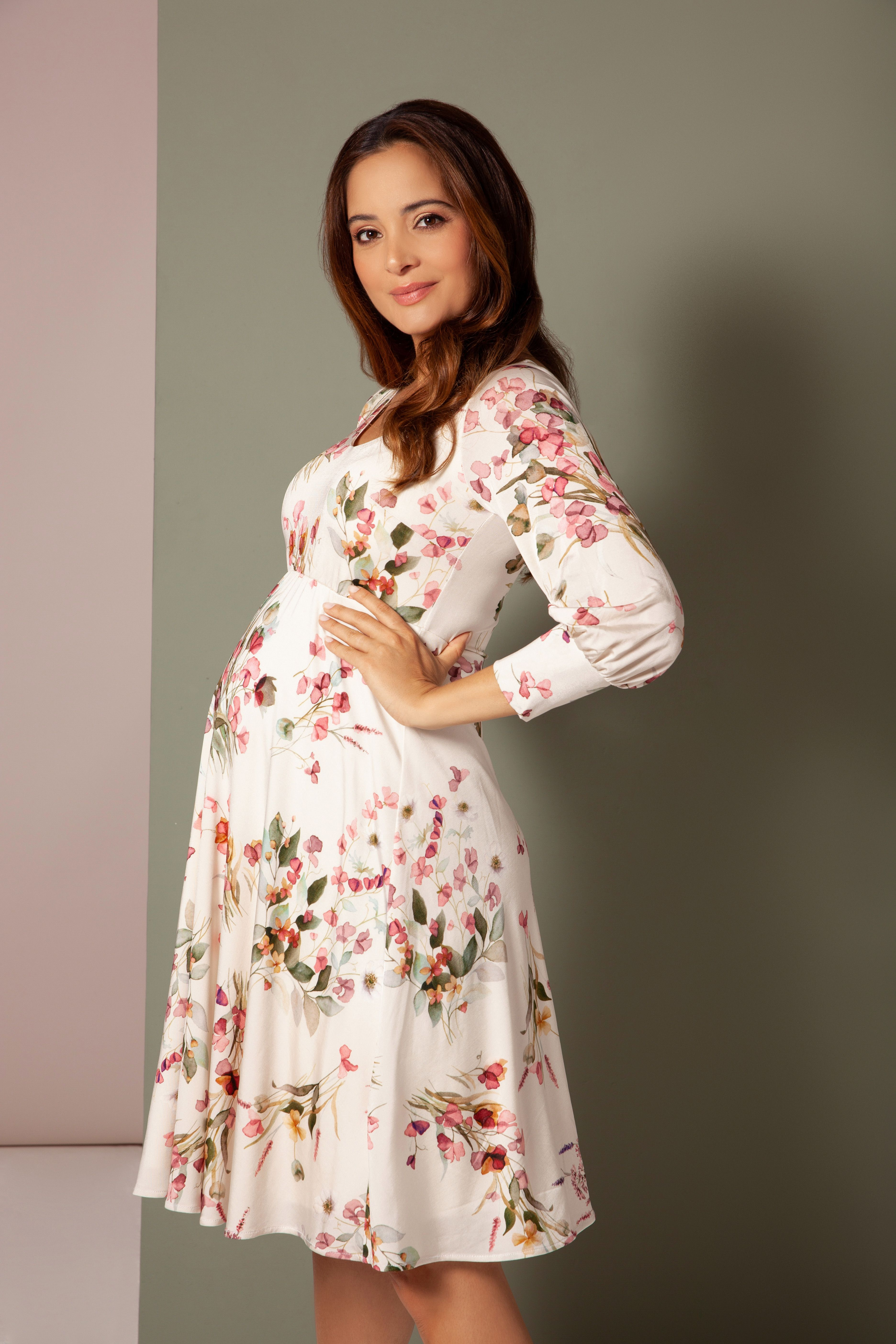 Pixie Maternity Dress Petal Pink Floral Maternity Wedding Dresses Evening Wear And Party Clothes By Tiffany Rose Maternity Dresses Dresses Pixie Dress