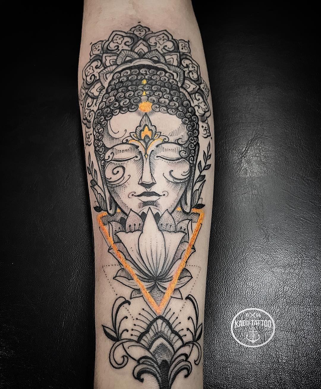 Destaques da semana no mundo da tattoo neo tradicional esprito tatuagem criada por kadu tattoo do esprito santo budha com traos em neo tradicional altavistaventures Gallery