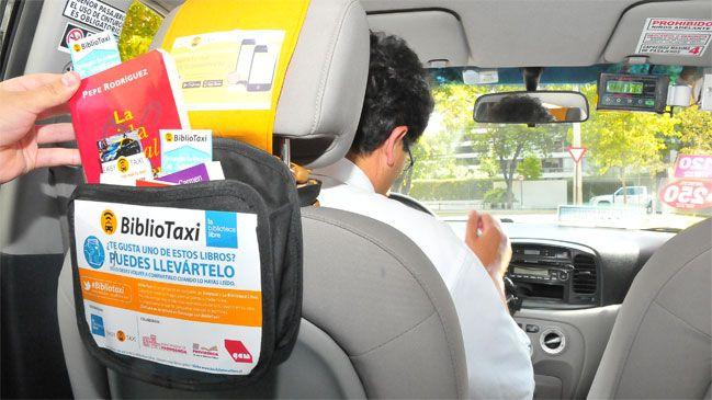 Taxis promoverán nueva forma de lectura en la capital | Cooperativa.cl