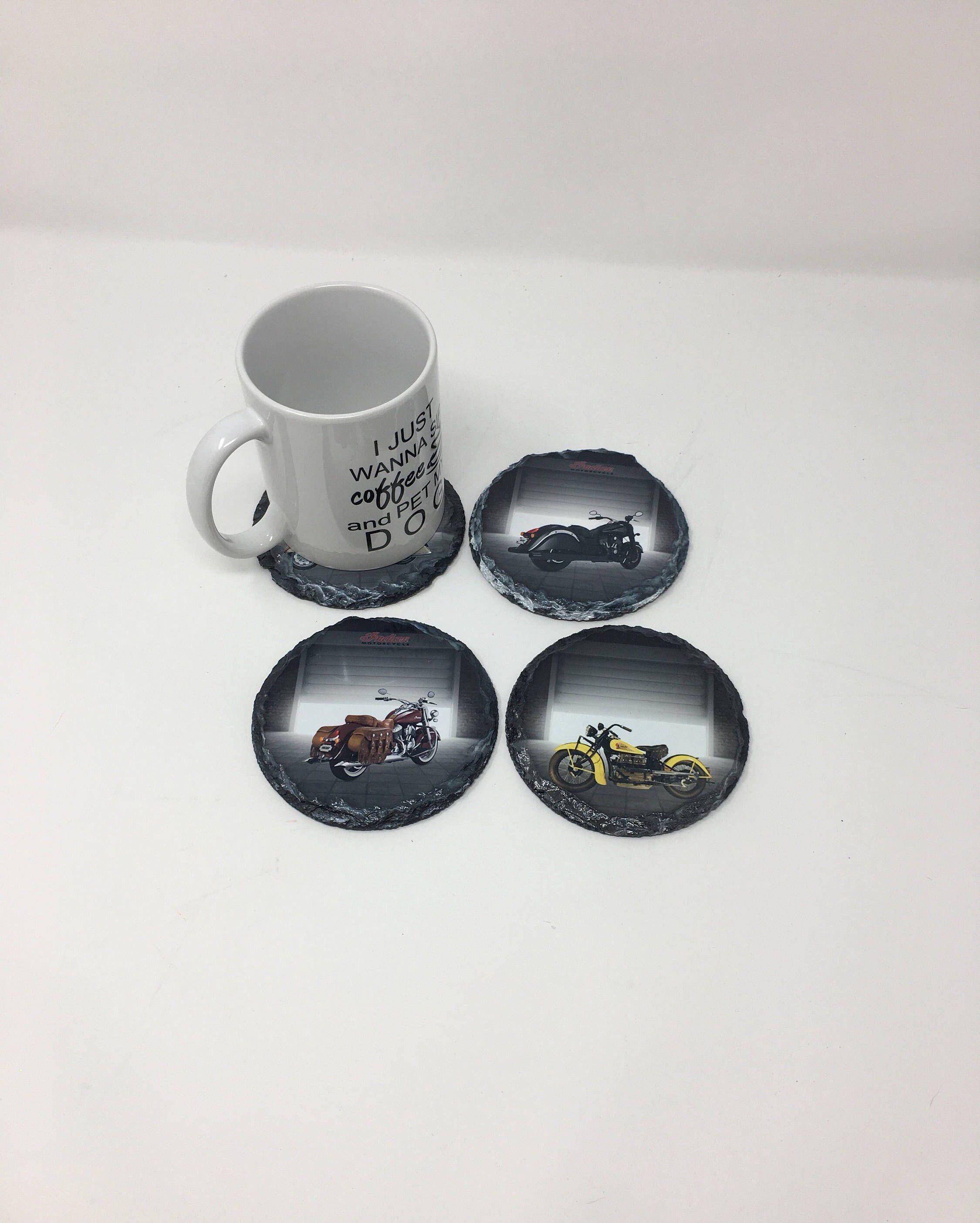 Custom Slate Coasters Set, Personalized Round slate Coasters ...
