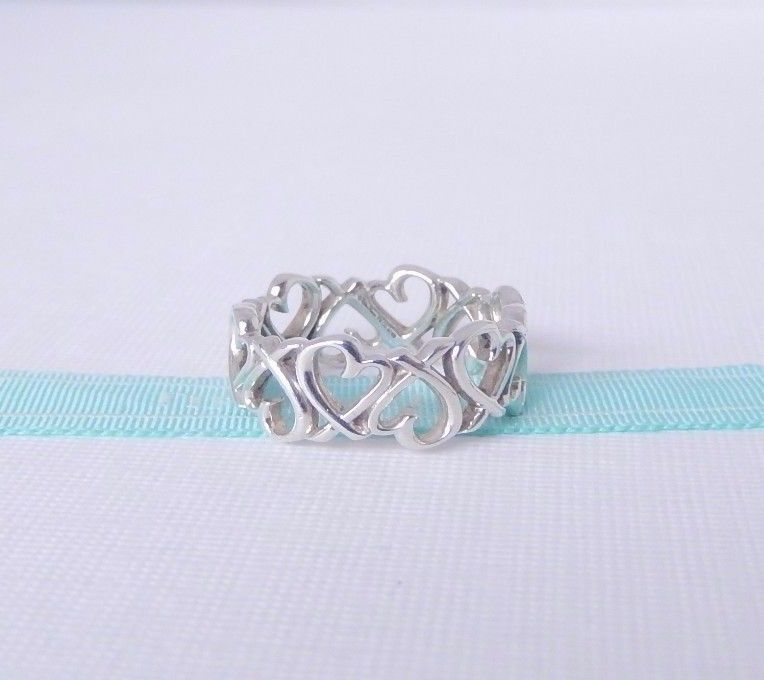 f1d0fdd89fa0e Tiffany & Co Size 6 Silver Paloma Picasso Endless Open Loving Heart ...