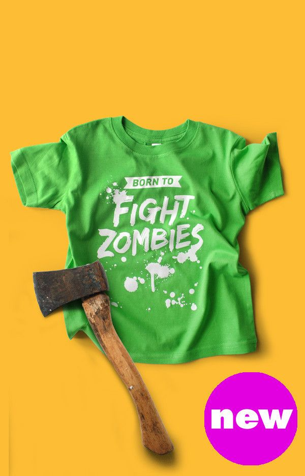 472dd4f0ee0d1 Born to Fight Zombies Toddler T-shirt | Baby Boy Closet | Toddler ...