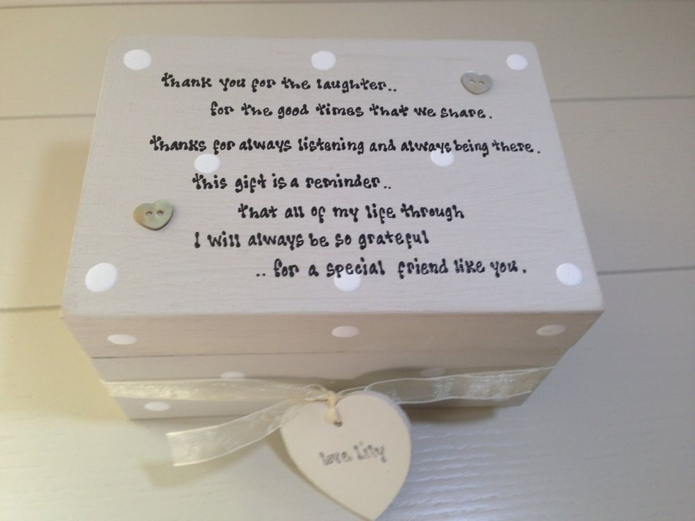 Details About Shabby Personalised Chic Special Best Friend Gift